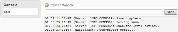 Multicraft Server Console